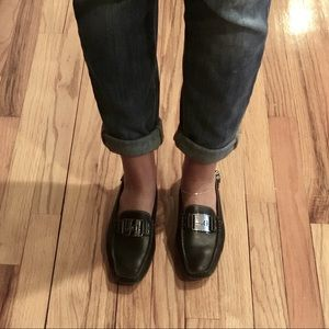 DIOR BLACK LEATHER FLATS SIZE 37